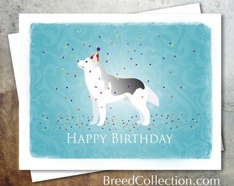 Siberian Husky Dog Birthday Card from the Breed Collection - Digital Download Printable