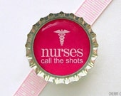 Nurse Magnet, Bottle Cap Magnet, nurse gifts for nurses, nursing student gift, nurse party favors, stocking stuffer, secret santa gift