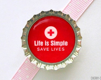Nurse Magnet, Bottle Cap Magnet, nurse gifts for nurses, nursing student gift, nurse party favors, stocking stuffer, secret santa gift