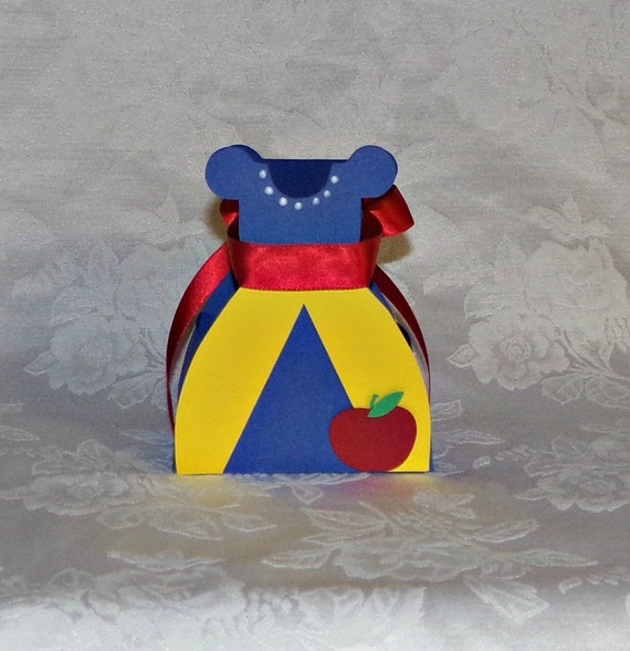 Snow White Paper Dress Favor Box