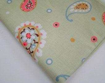 Panache by Sanae for Moda Fabrics, Green Paisley, OOP HTF, FQ