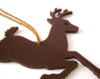 Acrylic Christmas Reindeer Ornament Christmas Reindeer Decoration Acrylic Christmas Tree Ornament