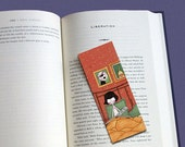 The Fabulous Destiny of Amelie Poulain illustrated bookmark (glossy finish)