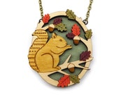 Sitting Squirrel Necklace