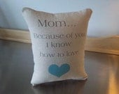 Mom love pillow best mom gift cotton canvas throw pillow neutral cushion home decor sentimental mother gift boho chic Valentines  Gift