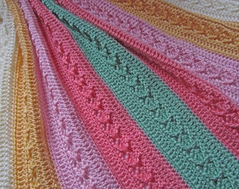 PDF Crochet Pattern - Diamond Chevron Blanket - can be made any size - permission to sell finished items - crochet afghan pattern