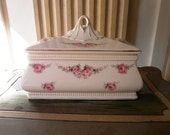 Antique German BISCUITS BOX Max Roesler ROSES