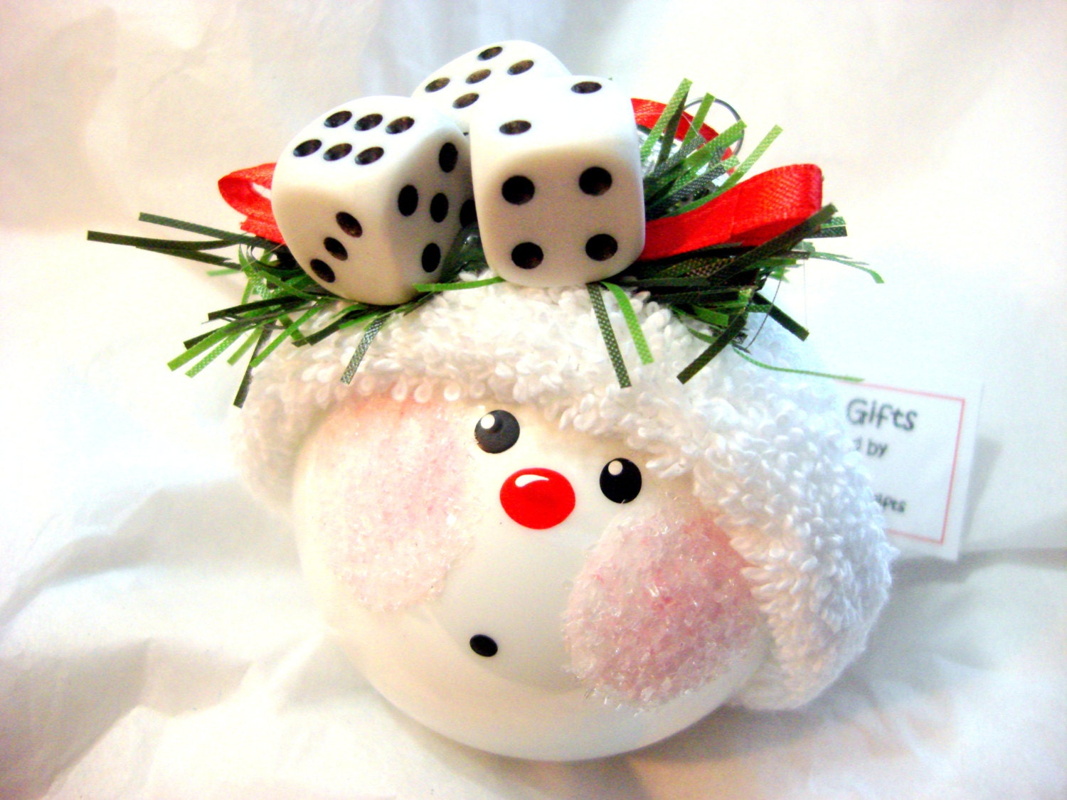 bunco hand painted christmas ornament by townsendcustomgifts