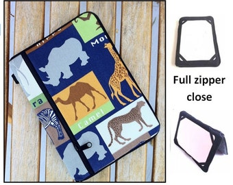 personalized HARD case - ipad case/ kindle case/ nook case/ samsung case/ others - full zipper close - safari
