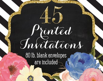 Invitation Printing - Set of 45 - 5x7