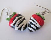 Chocolate covered Strawberry Earrings