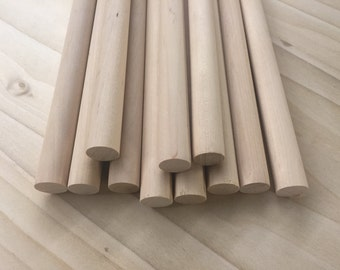 """25 Pieces - 5/8"""" Dowel Rods - Birch Dowels - Great for Crafts!"""