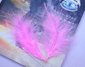 Feathers / Turkey Feathers / Pink Feathers / Fluffy Feathers / Natural Feathers / Wholesale Feathers