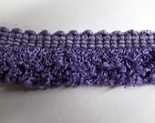 CURLY loop fringe purple 1.25 inch