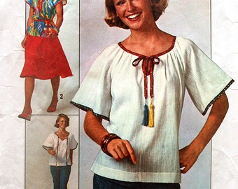 Bust 38 Jiffy Skirt and Pullover Top Vintage Sewing Pattern Simplicity 7964 Size 16 Cut and Ready