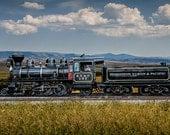 Edmonton Yukon & Pacific Railway Old Train Steam Engine Alberta Canada No.380 Historical Vintage Color Wall Decor Fine Art Photography
