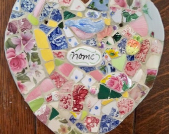 Heart mosaic  HOME  hand made