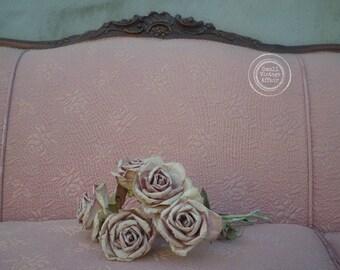 V I  C T O R I A N, Pink Rose Couch, Antique Couch