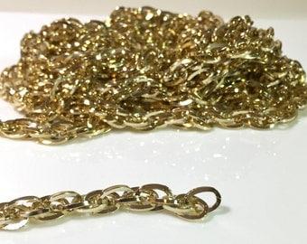 12 feet light wgt Jewelry Making Chain Gold tone 6.5mm x8.5mm U.S Fast Shipping
