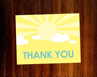 Sunshine Thank You Cards - set of 15