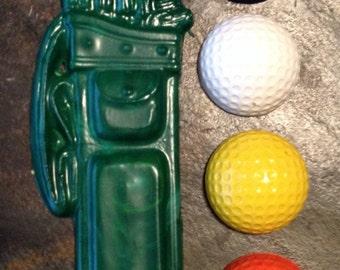 Golf crayon set of five