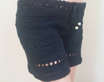 Sale Lady's cotton , crochet shorts