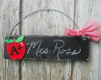TEACHER Chalkboard Name Plate Sign