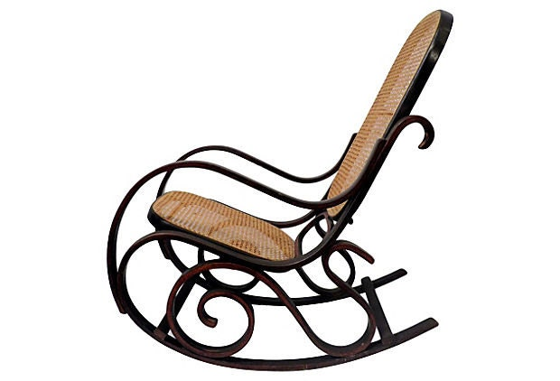 Bentwood & Cane Rocking Chair by CoseBelleCharleston on Etsy