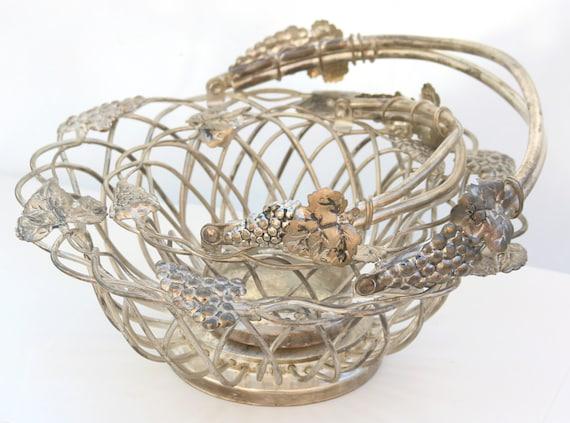 Godinger Silver Art Co Basket : Pair of godinger grape vine baskets silver plated art by