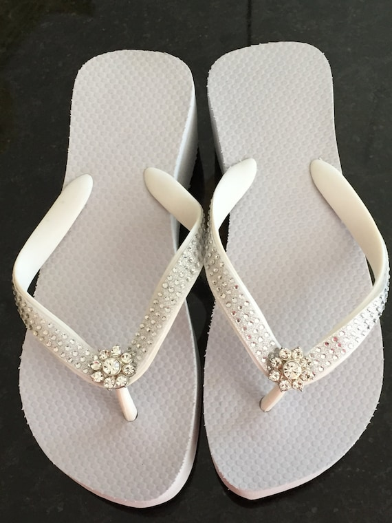 flip flops wedding flip flops wedges beach wedding rhinestone flip