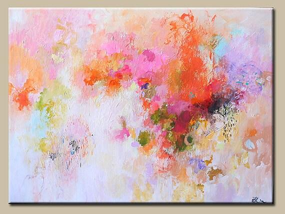 Art peinture abstrait peinture peinture originale for Peinture couleur pastel