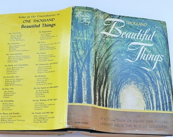 One Thousand Beautiful Things, by Majorie Barrows, Books, Poetry, Poems, Vintage Books, Religion,World Literature