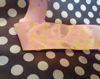 light pink wired ribbon