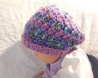 Crocheted Baby Slouchy Hat