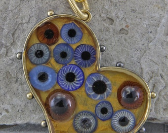 Handmade Heart With Eyes Evil Eye Warding Necklace