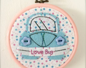Beetle Flexi Hoop Wall Hanging