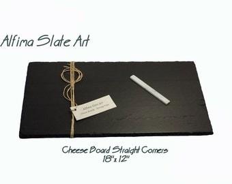 18 X 10 Slate Cheese Board With Soapstone Chalk Plus Free Set