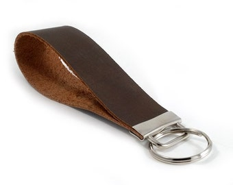 SPECIAL: Buy Three Get One Free > Brown Leather - Key Fob Wristlet