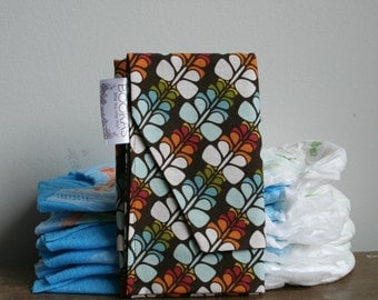organic butterfly diaper clutch