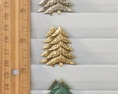 Pine Tree Pin Brooch -  BZ Designs - Evergreen Tree - Available in four beautiful metal finishes