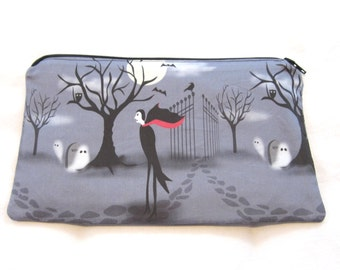 Lonely Vampire Fabric Pencil Case / Make Up Bag / Gadget Pouch