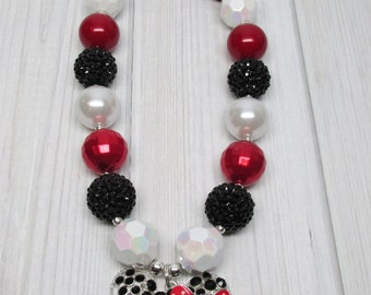 Minnie Mouse Inspired Chunky Bubblegum Necklace