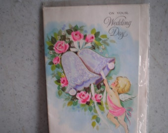 Vintage Mid Century Unused Greeting Card - On Your Wedding Day