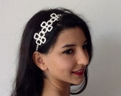 ivory Bridal Hair Accessory, headband, Wedding hair Accessory, handmade, custom design