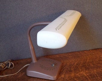 Vintage Mid Century Metal Fluorescent Desk Lamp