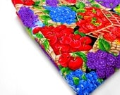 Cotton Remnant, Fruity Berry Print Fabric, Quilting Notions, Sewing Supplies