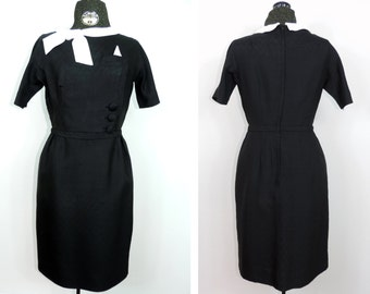 Vintage Dress by Jay Thorpe New York Free Shipping Black and White Professional Office Designer