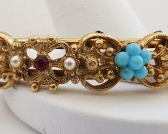 Vintage jewelry bracelet Florenza cuff bangle bracelet