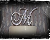 Cake topper Monogram - Beautifully embellished with Swarovski crystals.  A perfect wedding cake topper