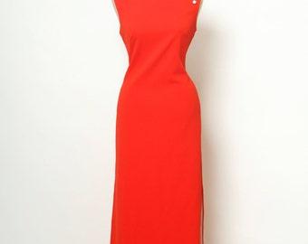 Vintage Dress / Asian Style Dress / Chinese dress / Cocktail dress / 60s Dress /Vintage 1960's Dress  / 70s dress